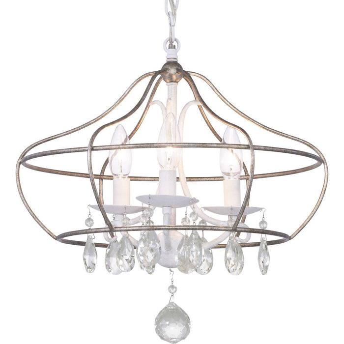 Fleurette Collection Three-Light Semi-Flush Convertible