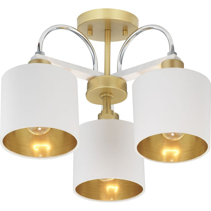 Rigsby Collection Three-Light Semi-Flush Convertible