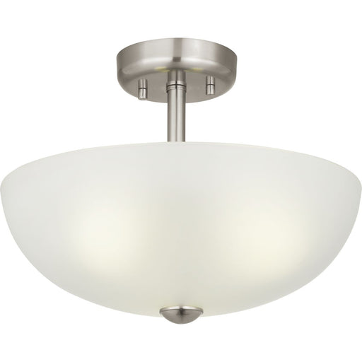 "Three-Light 15"" Semi-Flush Convertible Glass Dome"
