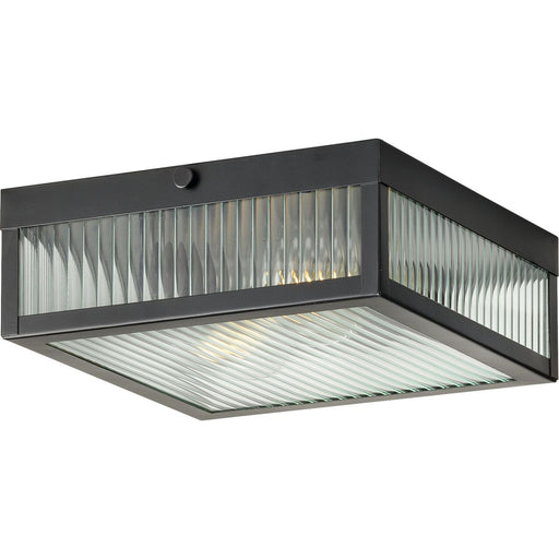 "Dwyer Collection Black Two-Light 11"" Flush Mount"