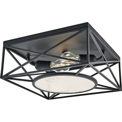 "Cumberland Collection Two-Light Black 13"" Flush Mount"