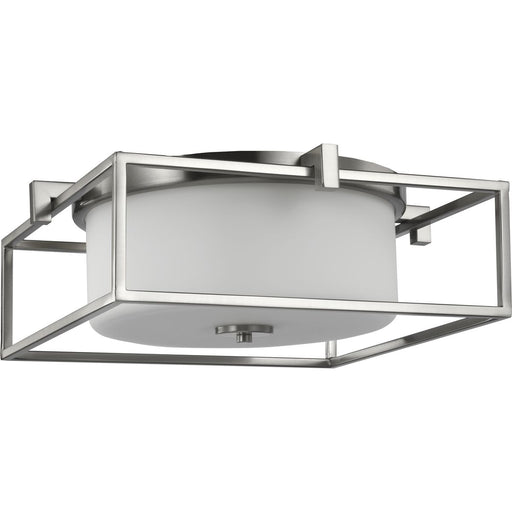 "Chadwick Collection Two-Light Brushed Nickel 15-3/8"" Flush Mount"