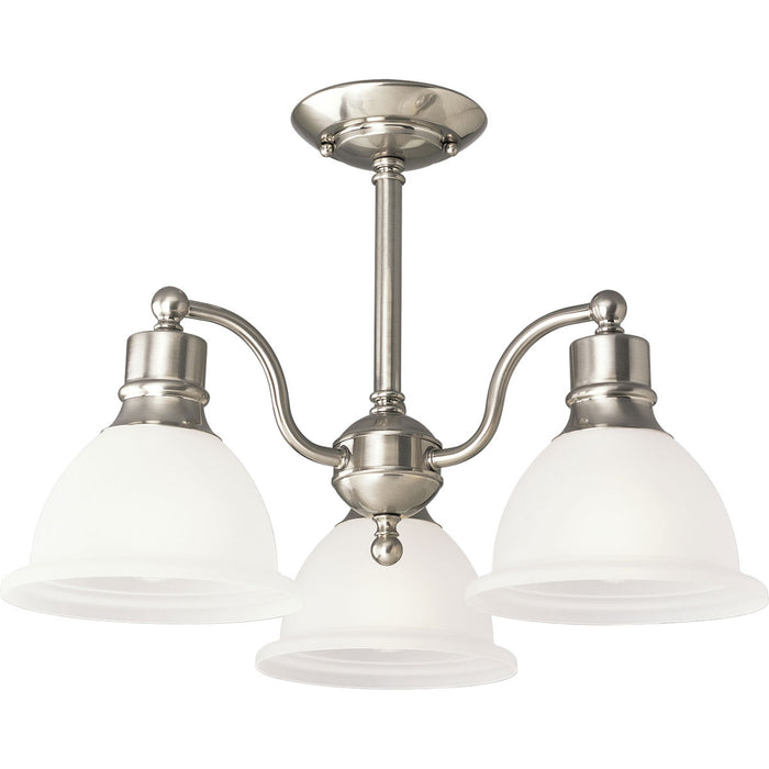 "Madison Collection Three-Light 20-3/4"" Close-to-Ceiling"