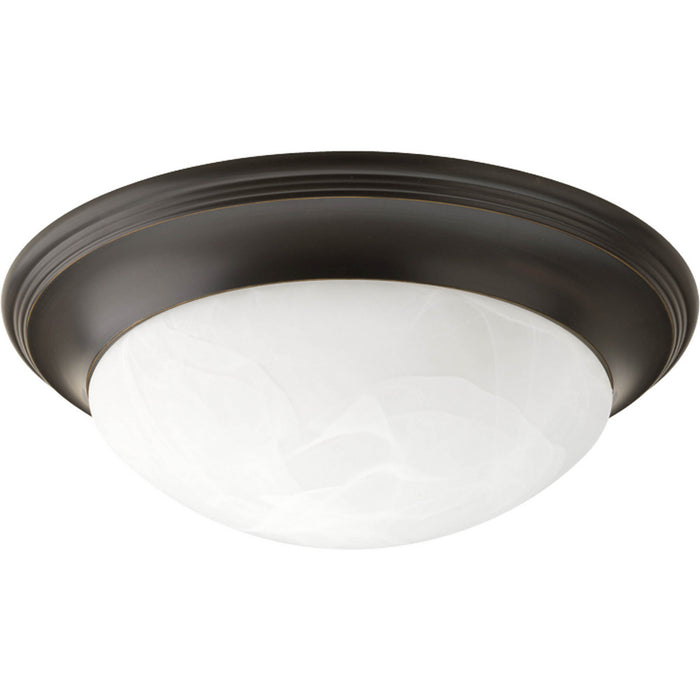 "Three-Light Alabaster Glass 16-5/8"" Close-to-Ceiling"