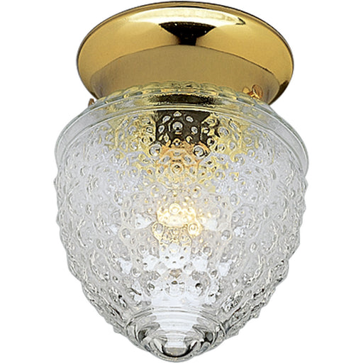 "One-Light Glass Globe 5-1/2"" Close-to-Ceiling"