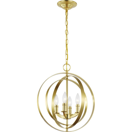 Equinox Collection Satin Brass Four-Light Sphere Pendant