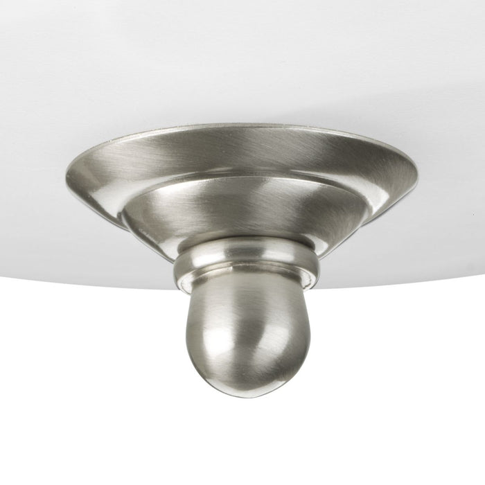 "Two-Light Dome Glass 13-1/4"" Semi Flush Convertible"