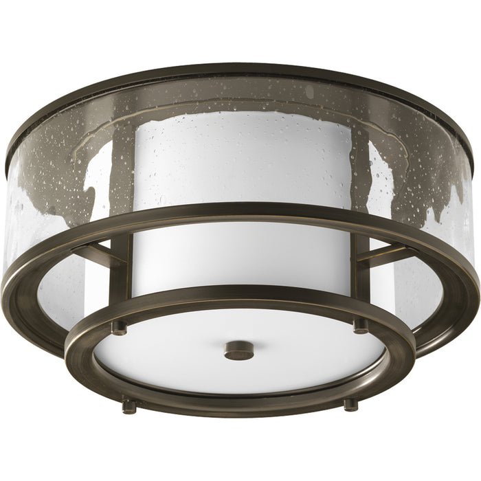 "Bay Court Collection Two-Light 15"" Flush Mount"