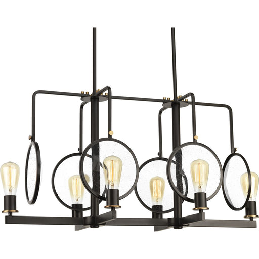 Looking Glass Collection Six-Light Linear Chandelier