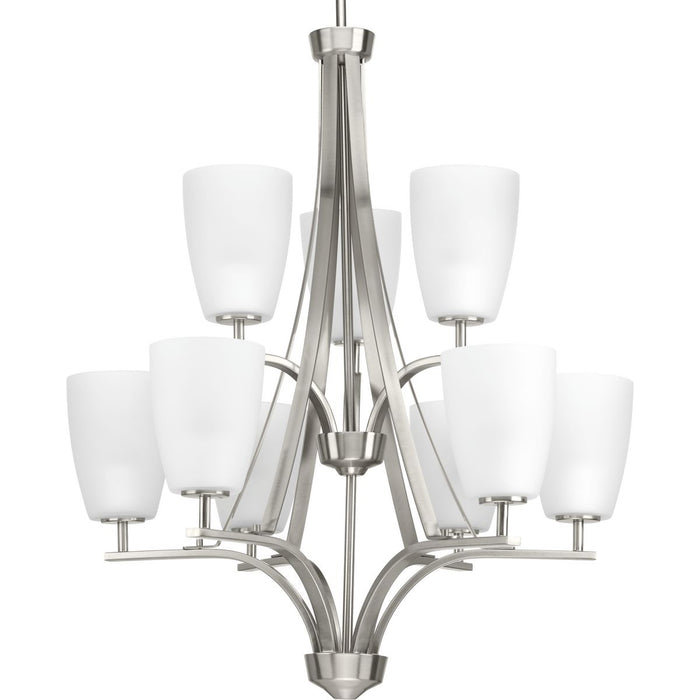 Leap Collection Nine-Light Chandelier