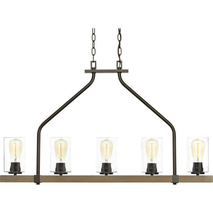 Barnes Mill Collection Five-Light Linear Chandelier