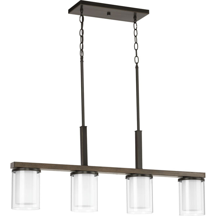 Mast Collection Four-Light Linear Chandelier