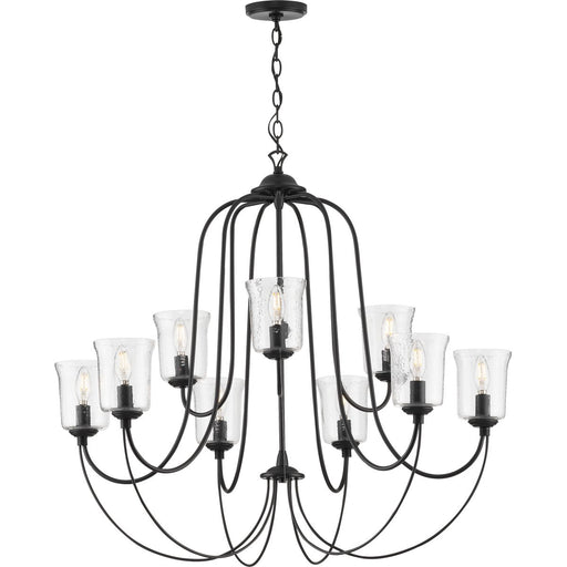Bowman Collection Black Nine-Light Chandelier
