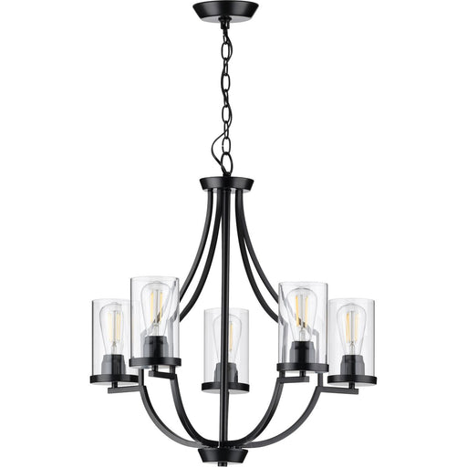 Lassiter Collection Five-Light Brushed Nickel Chandelier