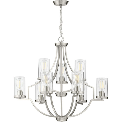 Lassiter Collection Nine-Light Brushed Nickel Chandelier