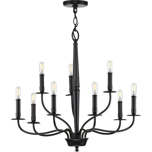 Durrell Collection Nine-Light Brushed Nickel Chandlier