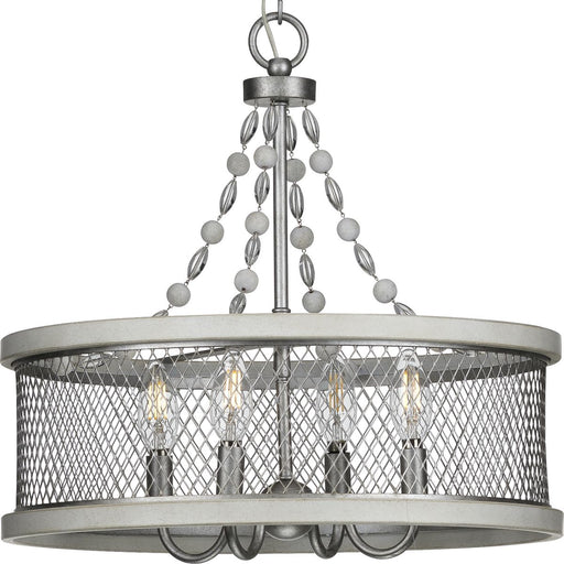 Austelle Four-Light Antique Bronze Chandelier