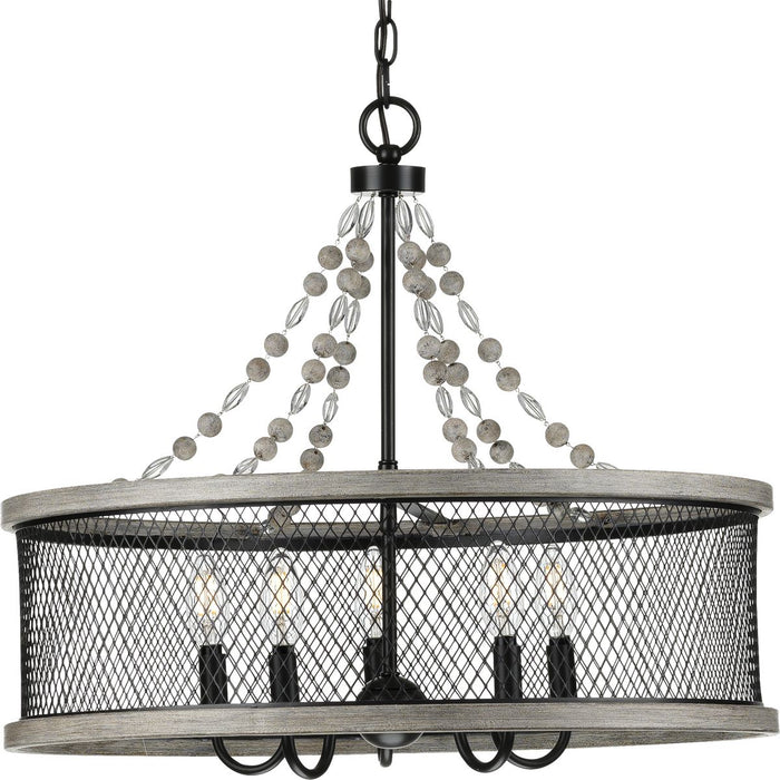 Five-Light Antique Bronze Chandelier