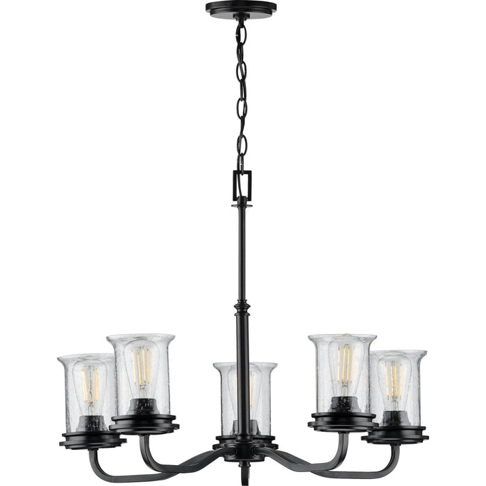 Winslett Collection Brushed Nickel Five-Light Chandelier