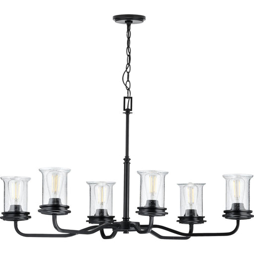 Winslett Collection Brushed Nickel Six-Light Oval Chandelier
