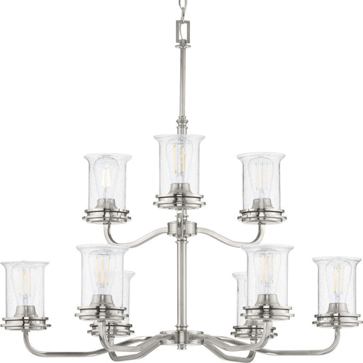 Winslett Collection Brushed Nickel Nine-Light Chandelier