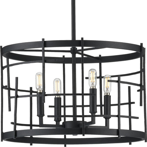 Torres Collection Black Four-Light Chandelier