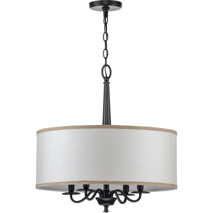Durrell Collection Four-Light Brushed Nickel Chandelier