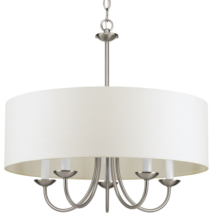 Five-Light Chandelier with a Drum Shade