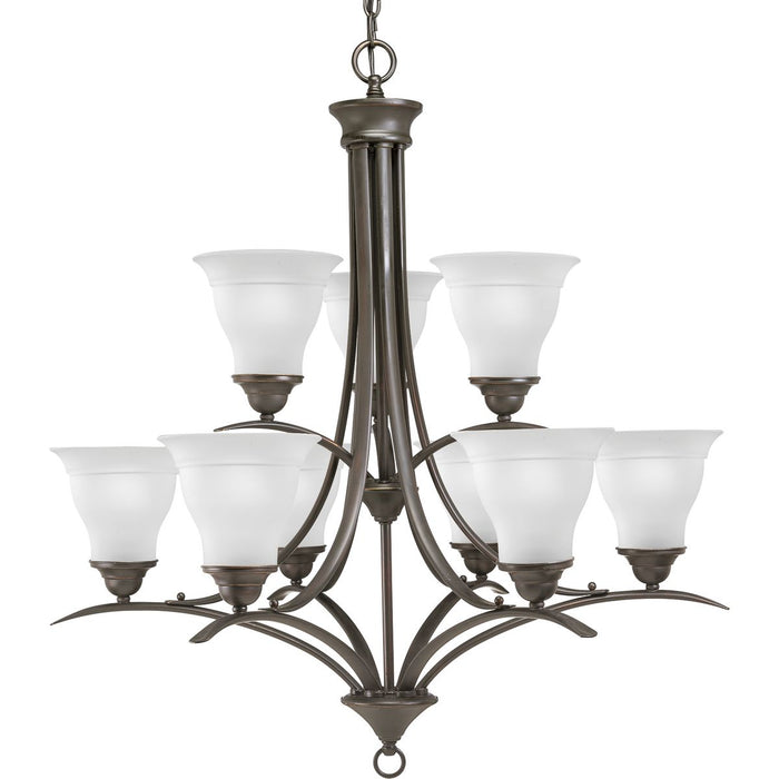 Trinity Collection Nine-Light, Two-Tier Chandelier