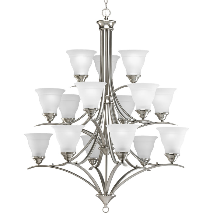 Trinity Collection Fifteen-Light, Three-Tier Chandelier