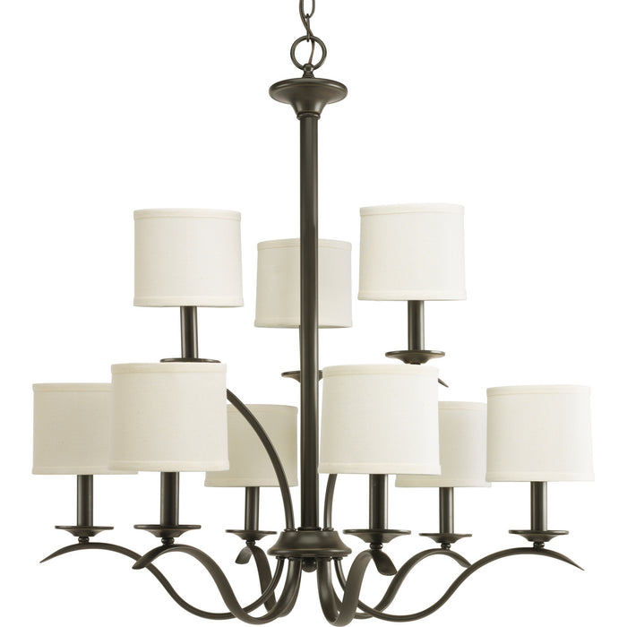 Inspire Collection Nine-Light, Two-Tier Chandelier
