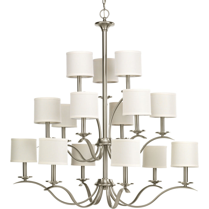 Inspire Collection Fifteen-Light, Three-Tier Chandelier