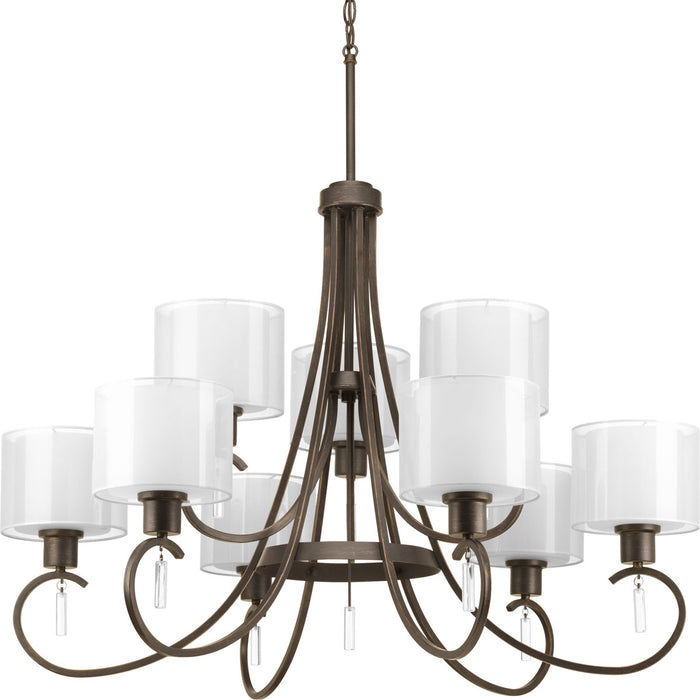 Invite Collection Nine-Light, Two-Tier Chandelier