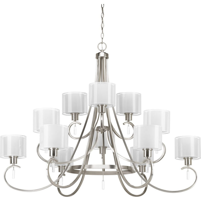 Invite Collection Twelve-Light, Three-Tier Chandelier