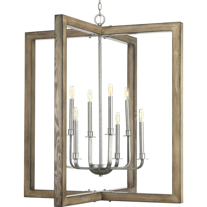 Turnbury Collection Eight-light chandelier