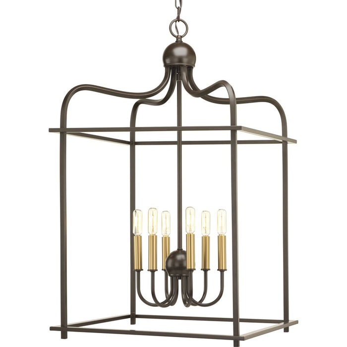 Assembly Hall Collection Six-Light Foyer Pendant
