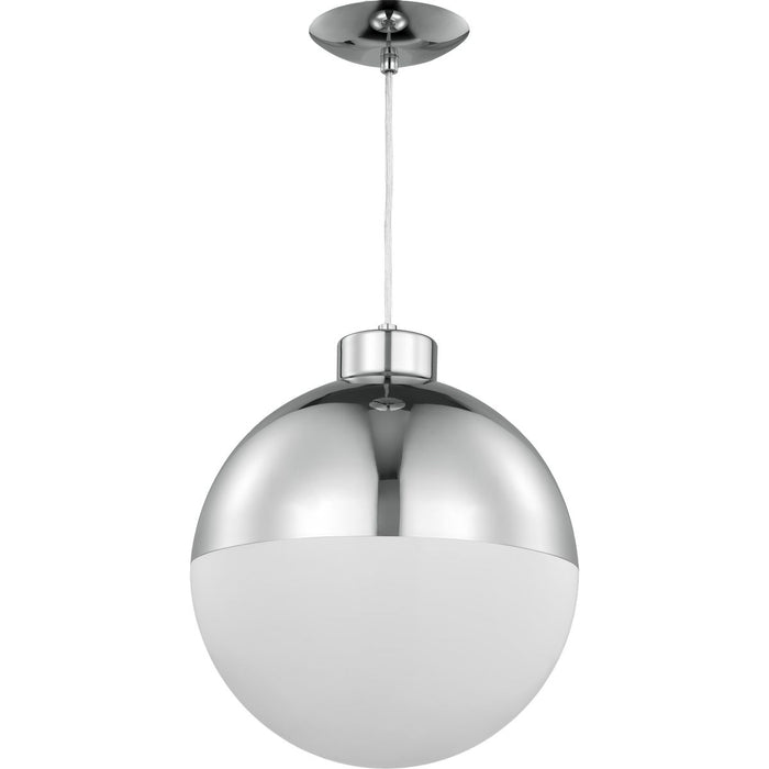 Globe LED Collection Brushed Nickel One-Light LED Pendant
