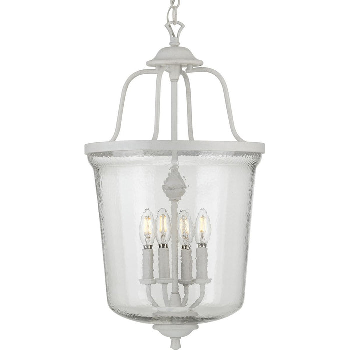 Bowman Collection Four-Light Cottage White Foyer Pendant