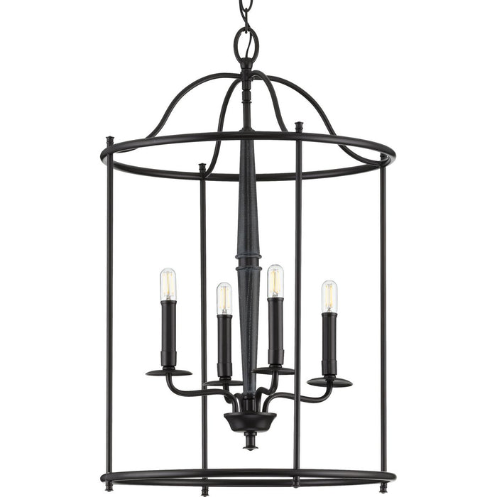 Durrell Collection Four-Light Black Medium Foyer