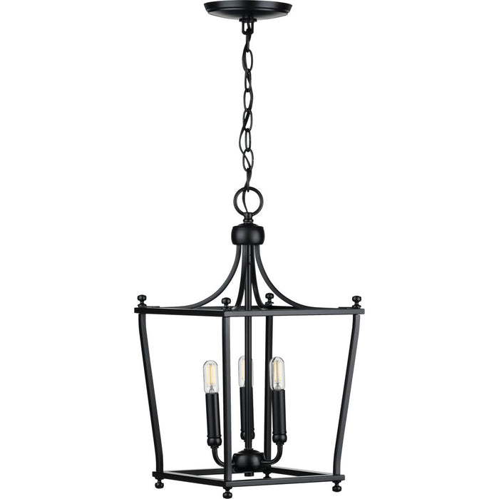 Parkhurst Collection Brushed Bronze Three-Light Foyer