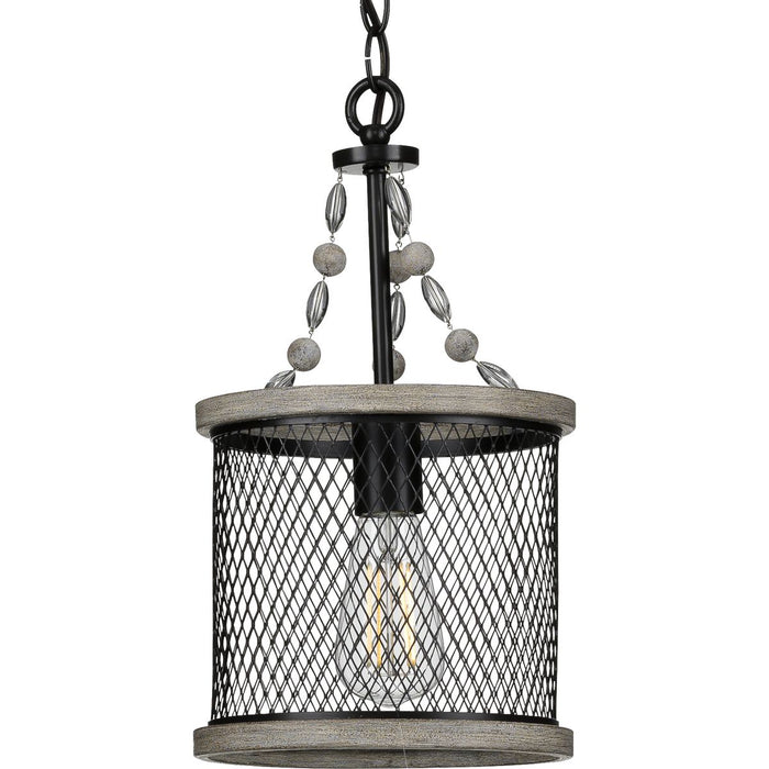 Austelle Collection One-Light Antique Bronze Mini-Pendant