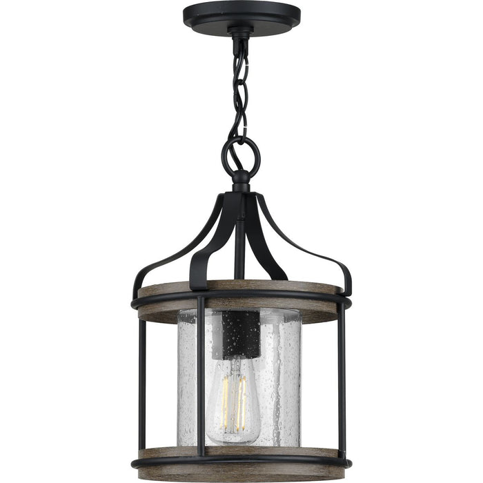 Brenham Collection Black One-Light Outdoor Pendant