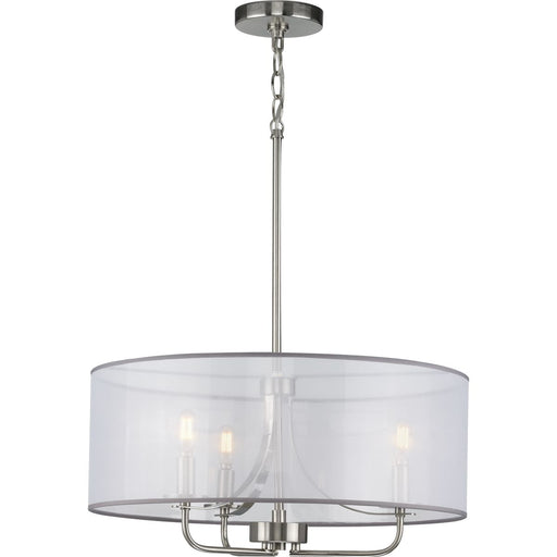 Riley Collection Brushed Nickel Three-Light Pendant