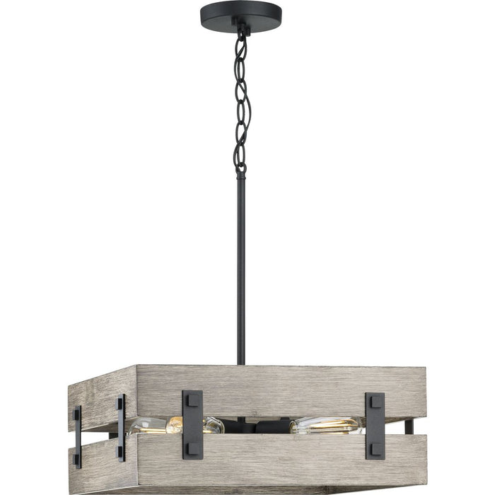 Hemsworth Collection Black Four-Light Pendant