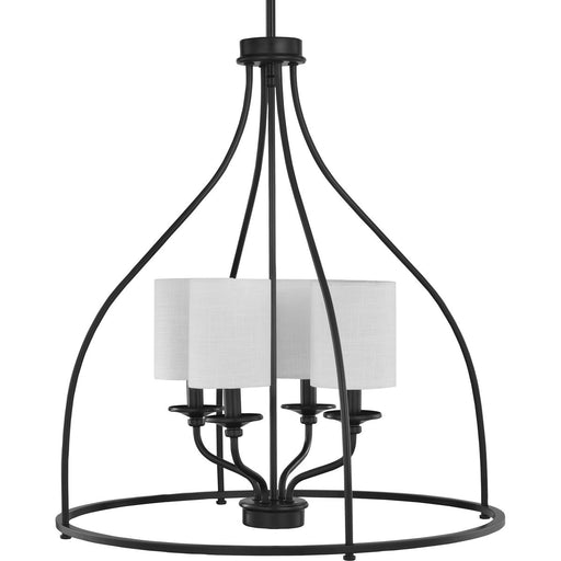 Bonita Collection Four-Light Satin brass Foyer Chandelier