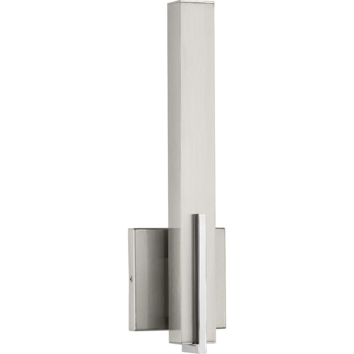 Planck LED Collection One-Light LED Wall Sconce, Brushed Nickel Finish