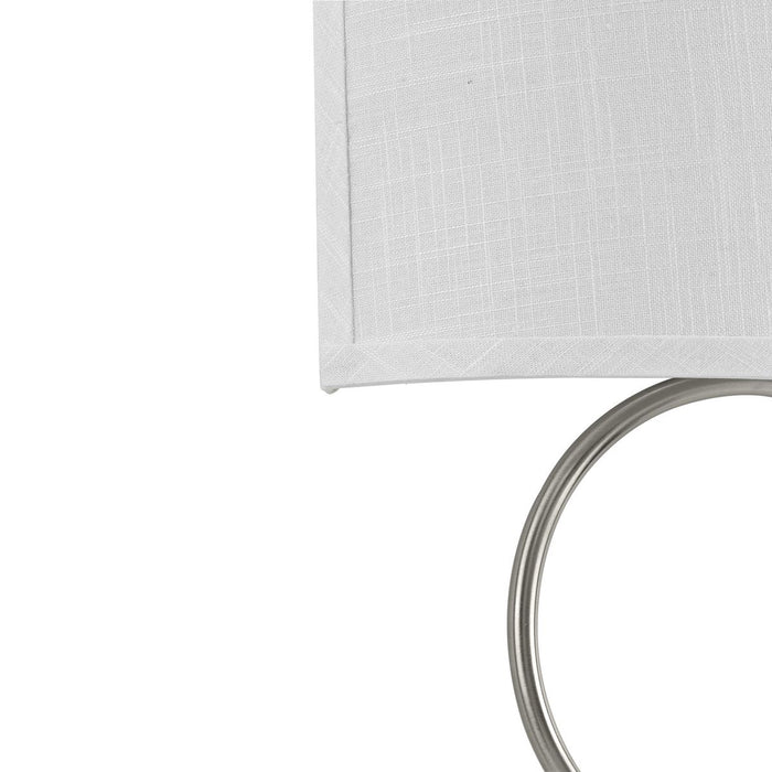 LED Shaded Sconce Collection Brushed Nickel One-Light Circle LED Wall Sconce