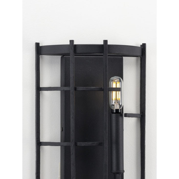 Torres Collection Black Two-Light Wall Sconce