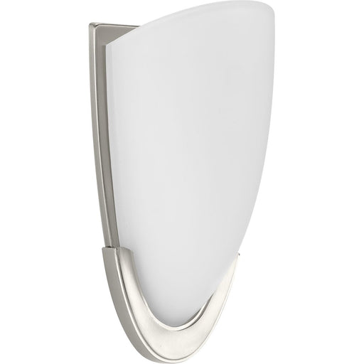 LED Etched Glass Brushed Nickel LED Wall Sconce