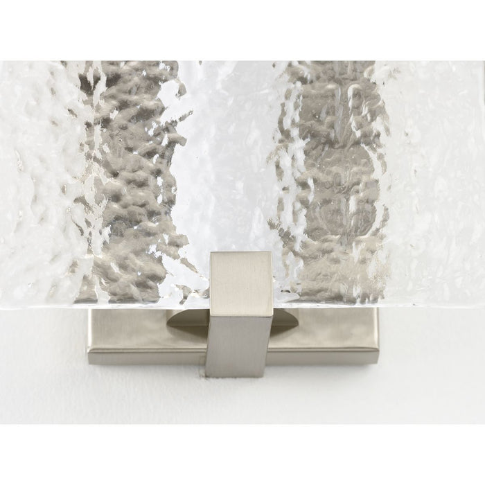 LED Stone Glass Sconce Collection Brushed Nickel ADA Wall Sconce